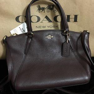 COACH Leather Mini Kelsey Crossbody OXBLOOD